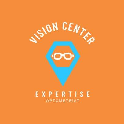 Simple Vision Center Logo Design Maker 1515c