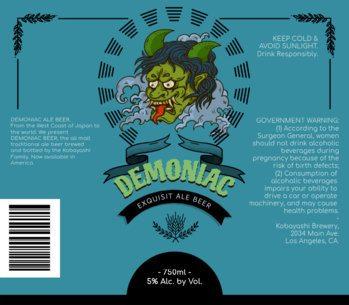 Demoniac Craft Beer Labels Maker 761b