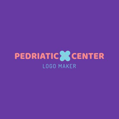 Pediatric Logo Design Template with a Medical Clipart 1534
