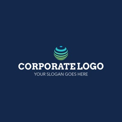 Simple Logo Maker for a Corporation 1518c