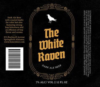 Dark Ale Beer Label Template 766d-1819