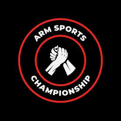 Pro Wrestler Logo Design Template 1537d