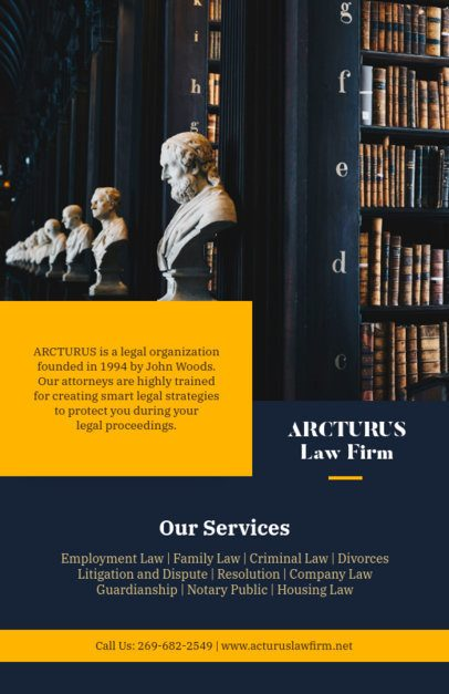 Law Flyer Maker for a Law Firm 690a