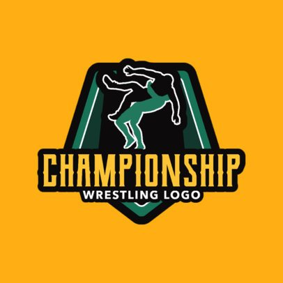 Simple Wrestling Logo Design Maker with Match Graphics1538c