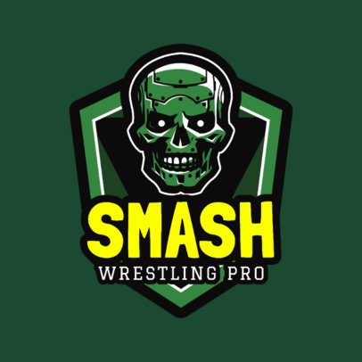 Professional Wrestling Logo Design Template 1538d