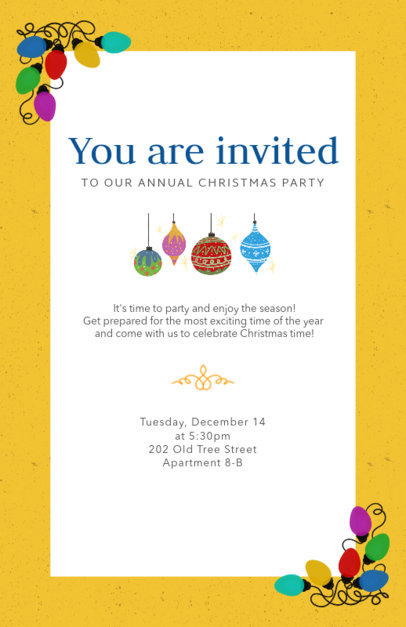 Christmas Party Flyer Template 841a