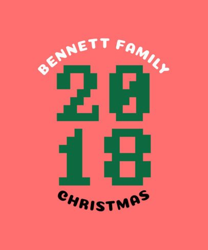 Xmas T-Shirt Design Maker for Family Holiday Parties 831a