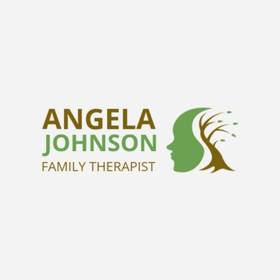 Counselling Logo Maker with a Creative Mental Health Icon 1524d