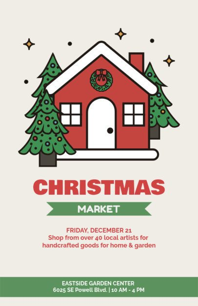 Beautiful Xmas Flyer Template for a Christmas Market 861d