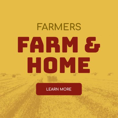 Farm and Home Store Banner Design Template 380c