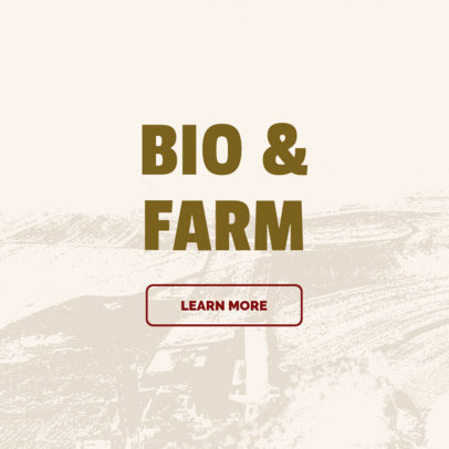 Banner Design Creator for Bio and Farm Site 380e
