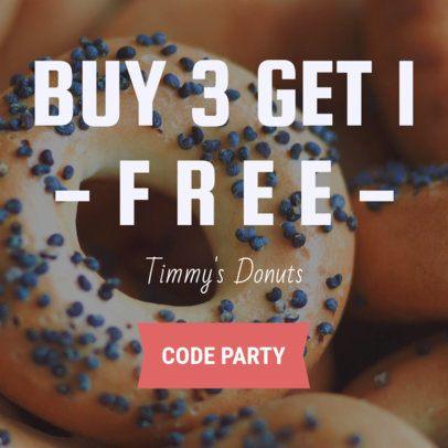 Online Banner Maker for Donut Shops 370b