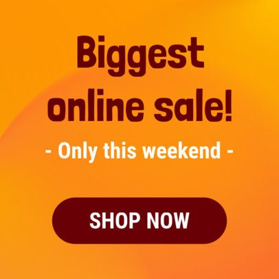 Online Banner Template for an Online Sale 296b