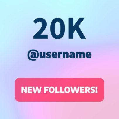 Ad Banner Maker for a Followers Milestone 296d