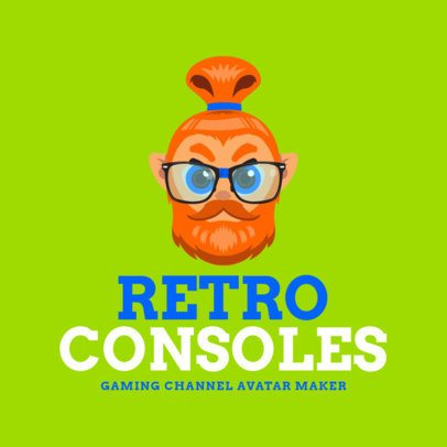Gaming Logo Creator with Hipster Avatar 1460b