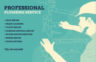 Professional Flyer Maker for Plumbing Services 716e