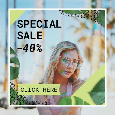 Online Banner Template for Stores Sales 268c