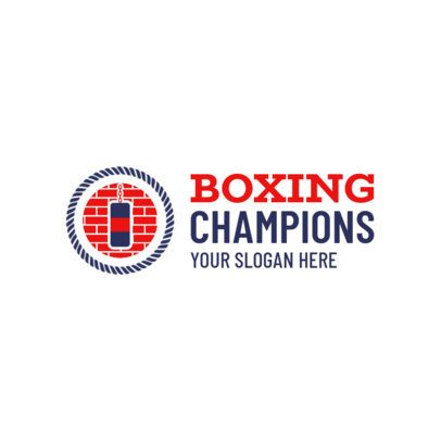 Boxing Gym Logo with Punching Bag Icon 1583a