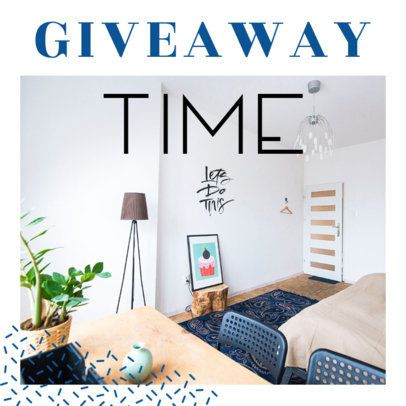 Ad Banner Template for Furniture Store Giveaway 530e