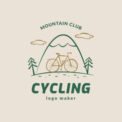 Mountain Bike Logo Maker for a Cycling Club 1574b