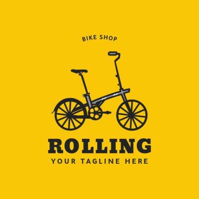 Biking Logo Maker for a Bike Shop 1574c