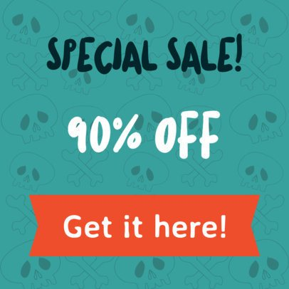 Banner Maker for Special Halloween Sales 288a