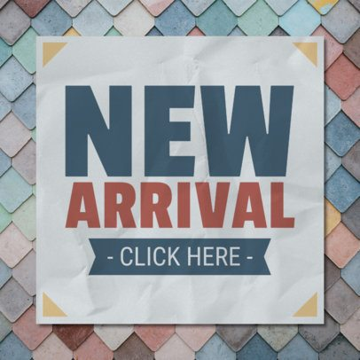 Banner Design Generator for Announcing New Store Arrivals 546a