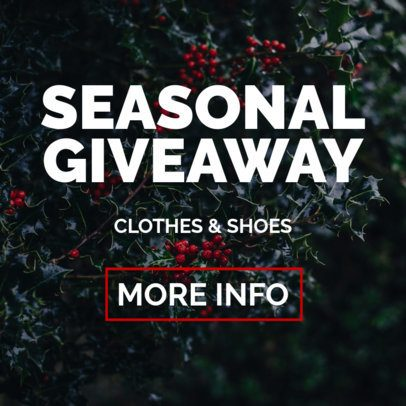 Giveaway Banner Maker with Seasonal Images 728b