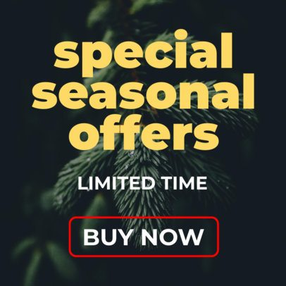 Holiday Banner Maker for Special Season Offers 728e