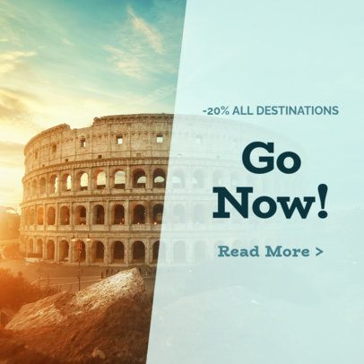 Banner Ad Maker for Travel Discounts 542e