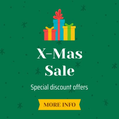Christmas Sale Banner Design for Special Discount Offers 785c