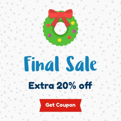 Holiday Sale Banner Maker for Final Sale of the Year 785d