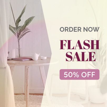 Flash Sale Banner Maker for Furniture Stores 534e