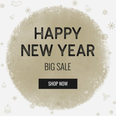 New Year Banner Maker with Winter Illustrations 774f