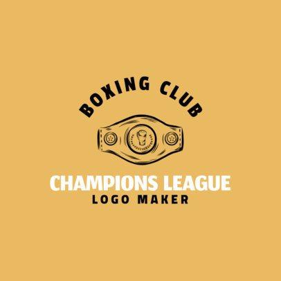 Boxing Logo Creator with Champion's Belt Clipart 1584e