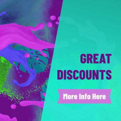 Banner Maker with Watercolor Graphics for Discounts 274b