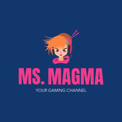 Gaming Channel Logo Maker with a Cool Cartoon 1323g