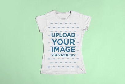 T-Shirt Mockup on Flat Surface 23845