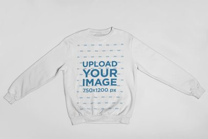 Mockup of a Crewneck Sweater with Extended Sleeves 23839