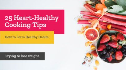 Youtube Thumbnail Maker for Healthy Cooking Tip Vlogs 901b