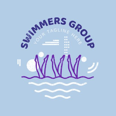 Swim Club Logo Maker for a Swimmers Group 1575d