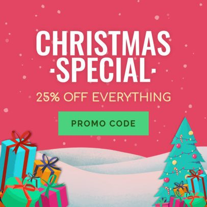 Holiday Banner Creator for a Christmas Banner Ad 783c