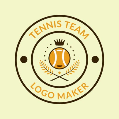 Tennis Logo Design Generator with Crowned Ball Clipart 1641d
