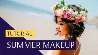 YouTube Thumbnail Maker for a Summer Makeup Tutorial 934a
