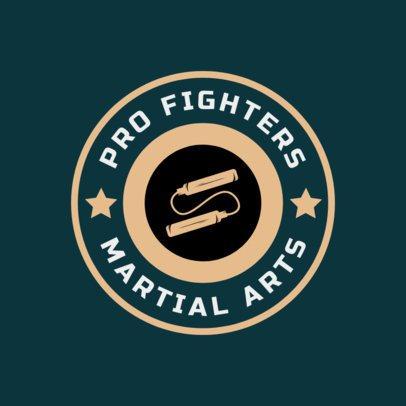 Martial Arts Logo Maker with Nunchucks Clipart 1606e
