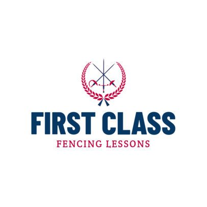 Minimalistic Fencing Logo Maker for Fencing Lessons 1611b