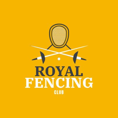 Fencing Logo Maker for Competitive Fencing 1611e