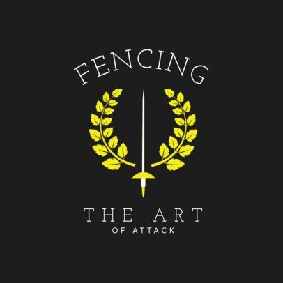 Elegant Fencing Logo Maker 1614