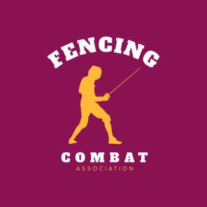 Fencing Logo Design Template for Fencing Teams 1614e