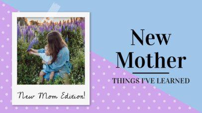 YouTube Thumbnail Template for Mom Vlogs 895b